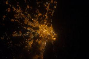 2015_Cuaderno de campo_Valencia de noche_04 08 2012_Estación Espacial Internacional_NASA